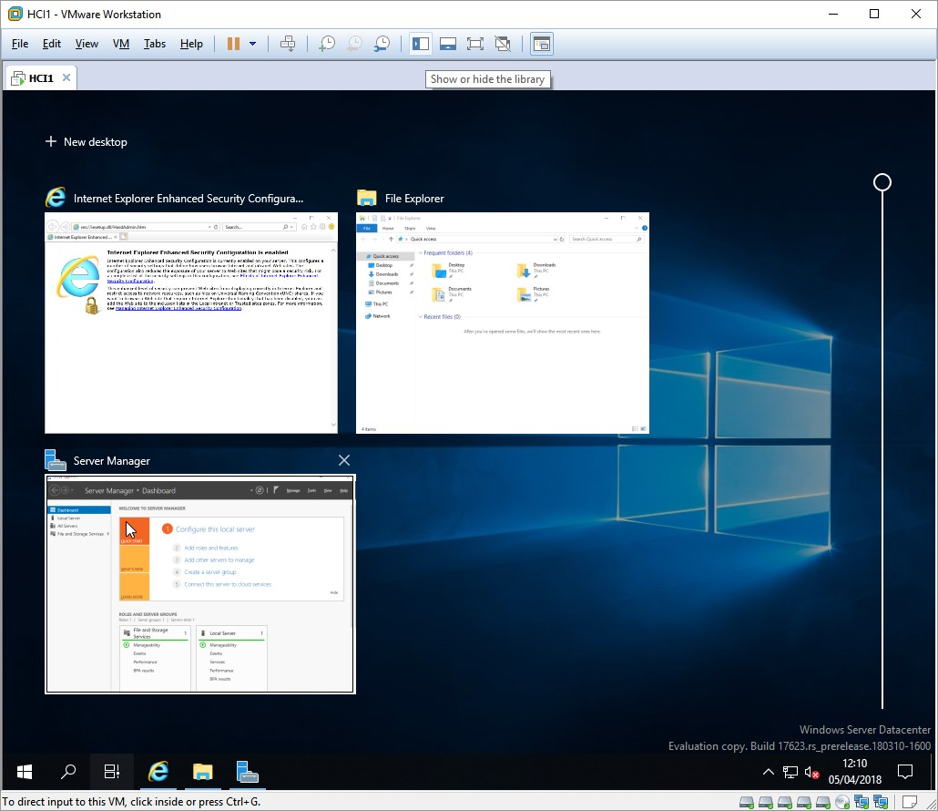 Windows 2019 Insider Preview and Project Honolulu – Strike3D it